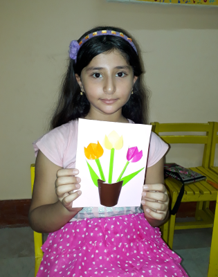 کارت پستال گل و گلدان