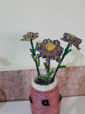 ساخت گل با ماکارونی