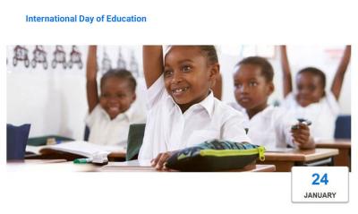 روز بینالمللی آموزش به تقویم بینالمللی افزوده شد