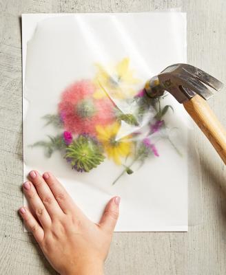 چاپ گلهای طبیعی