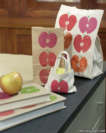 چاپ با میوه سیب