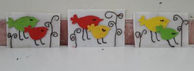 تابلوی  پرنده کارتنی