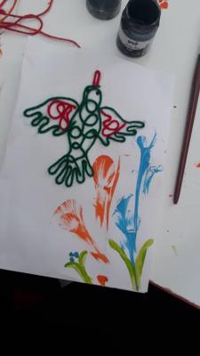 نقاشی با کاموا