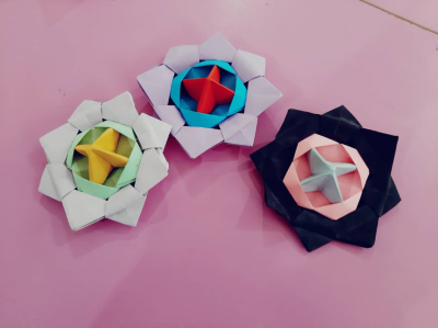اوریگامی فرفره ۳ بخشی