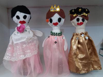 ساخت عروسک دخترانه نمدی