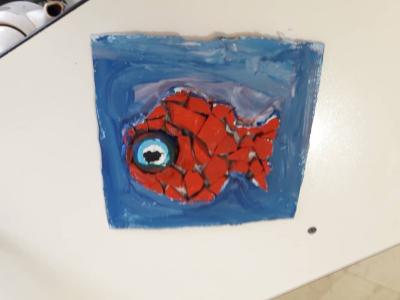 تابلوی کاشی کاری چشم زخم ماهی